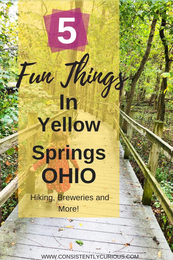 5 Fun Things In Yellow Springs Pin
