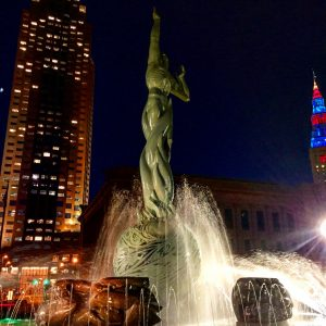 Fountain in Cleveland Ohio