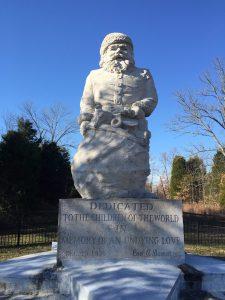Santa Claus Indiana statue