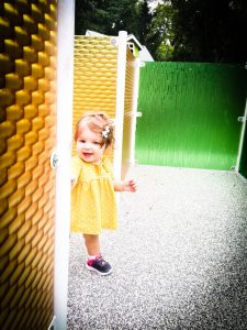 Toddler in Sensory Maze at West Fork Park