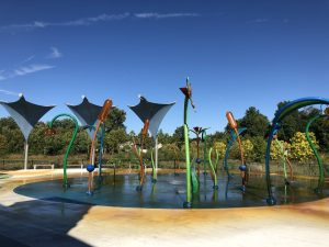 Splash Pad at Central Park in Carmel, Indiana