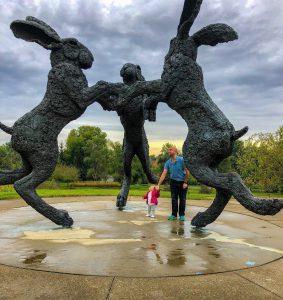 Dancing Rabbits in Dublin, OH