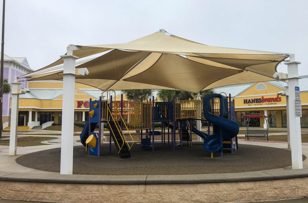 Covered play area in Gulf Shores