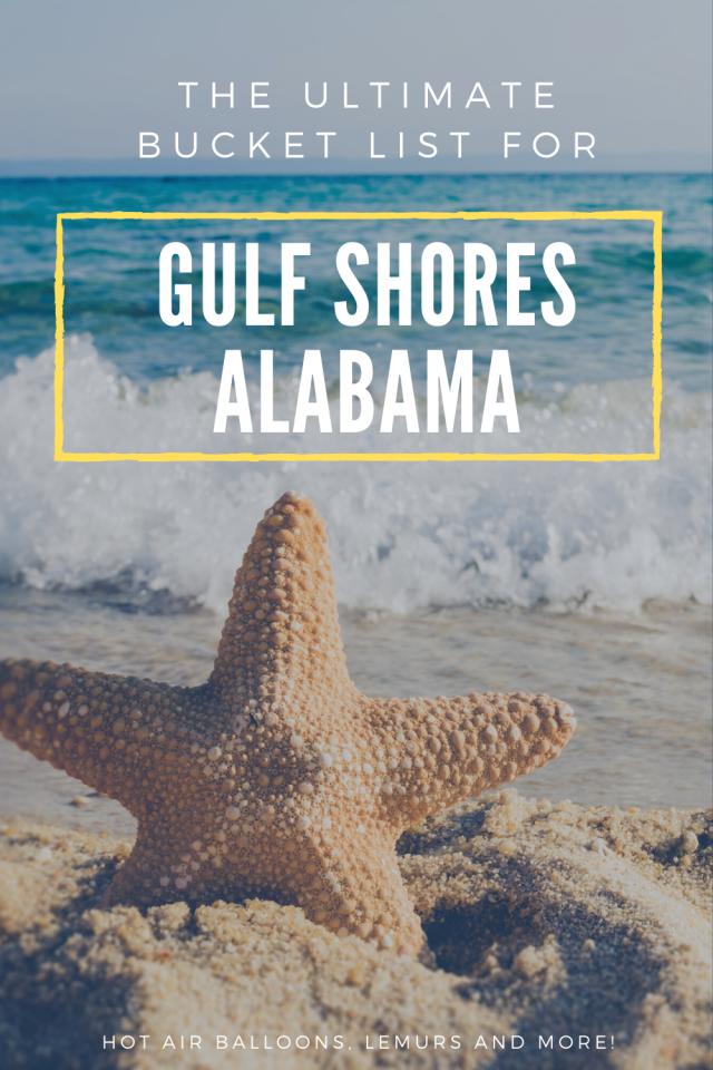 Gulf Shores Bucket List