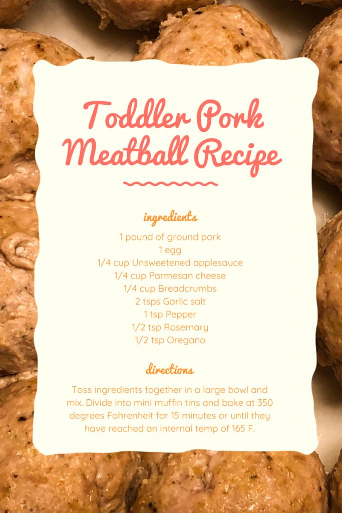 Toddler Pork Meatball Recipe