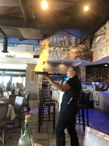 Opa flaming cheese