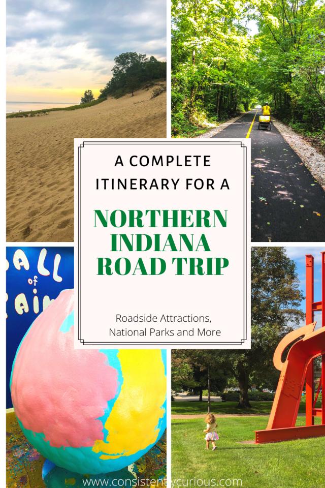 Northern Indiana Road Trip Pin
