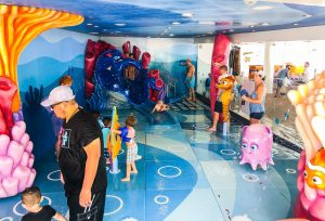 Splash Area On Disney Cruise with kiddie-slide