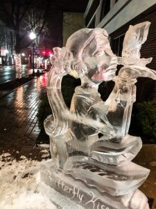 Ice Sculptures At Winter Ice Festival