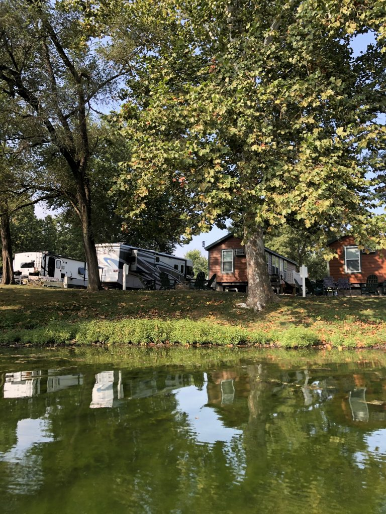 Camping options at Natural Springs Resort In New Paris Ohio
