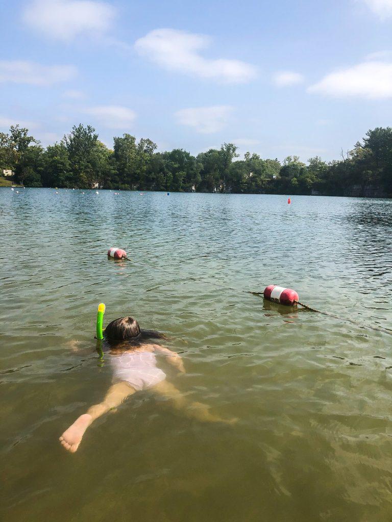 Snorkeling at Natural Springs Resort in New Paris Ohio