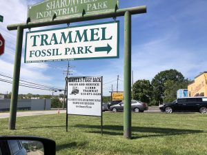 Sign For Fossil Park