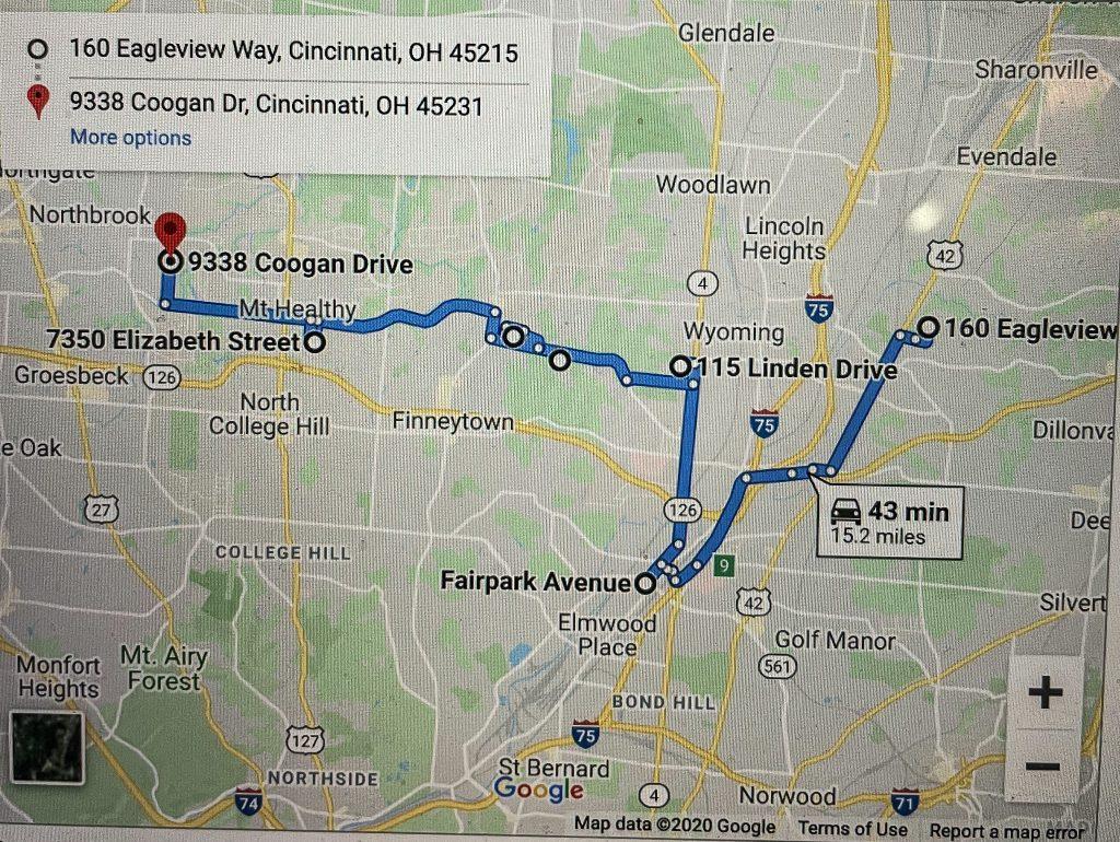 Christmas Light Route In Cincinnati