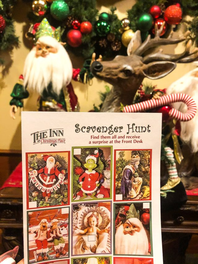 Scavenger Hunt at The Inn at Christmas Place