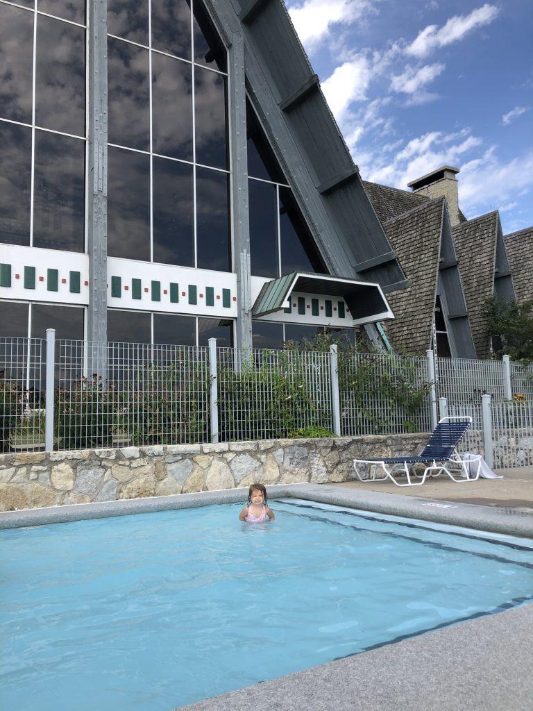 Toddler wading pool at Hueston Woods Lodge