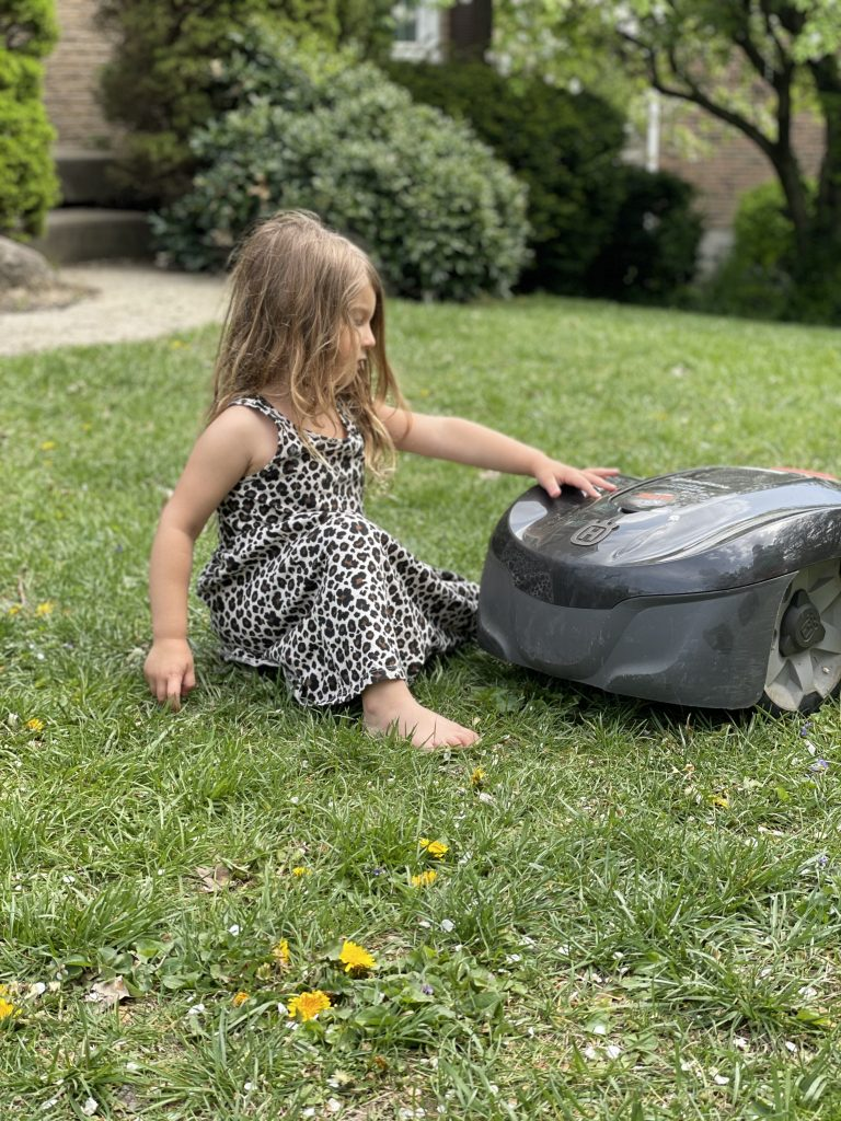 Kid Friendly robotic mowing services