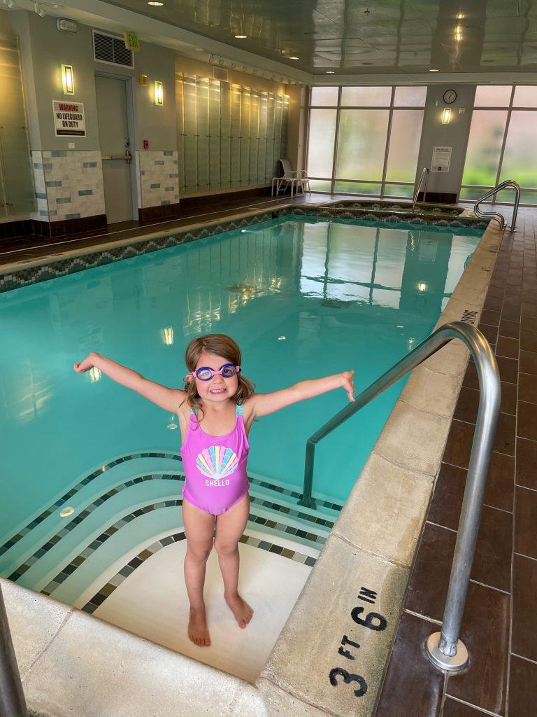 Indoor Pool at H Hotel in Midland Michigan
