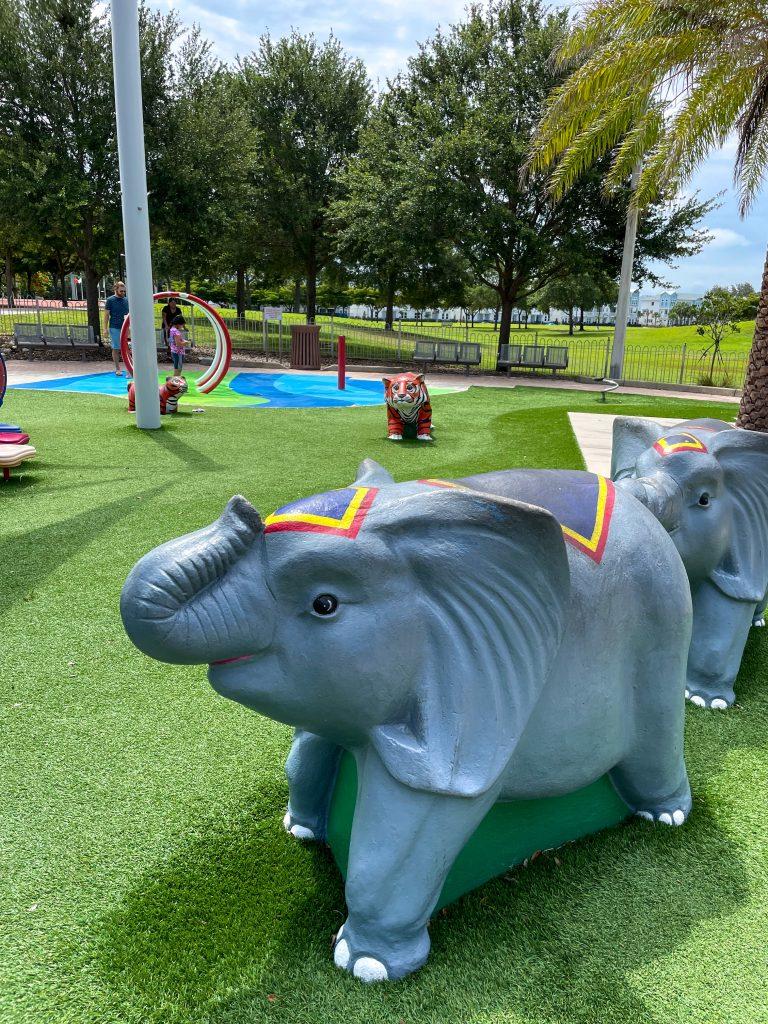 Toddler circus playground at Payne Park