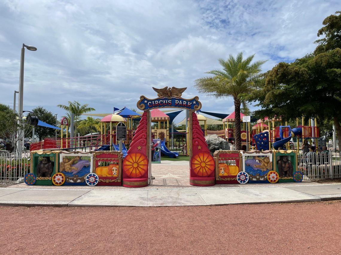 Circus themed playground in Sarasota Florida