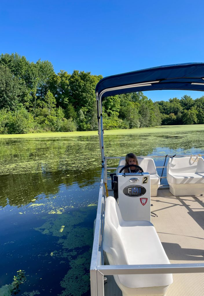 Pontoon Boat at Sharon Woods: Things to do  In Ohio This Fall