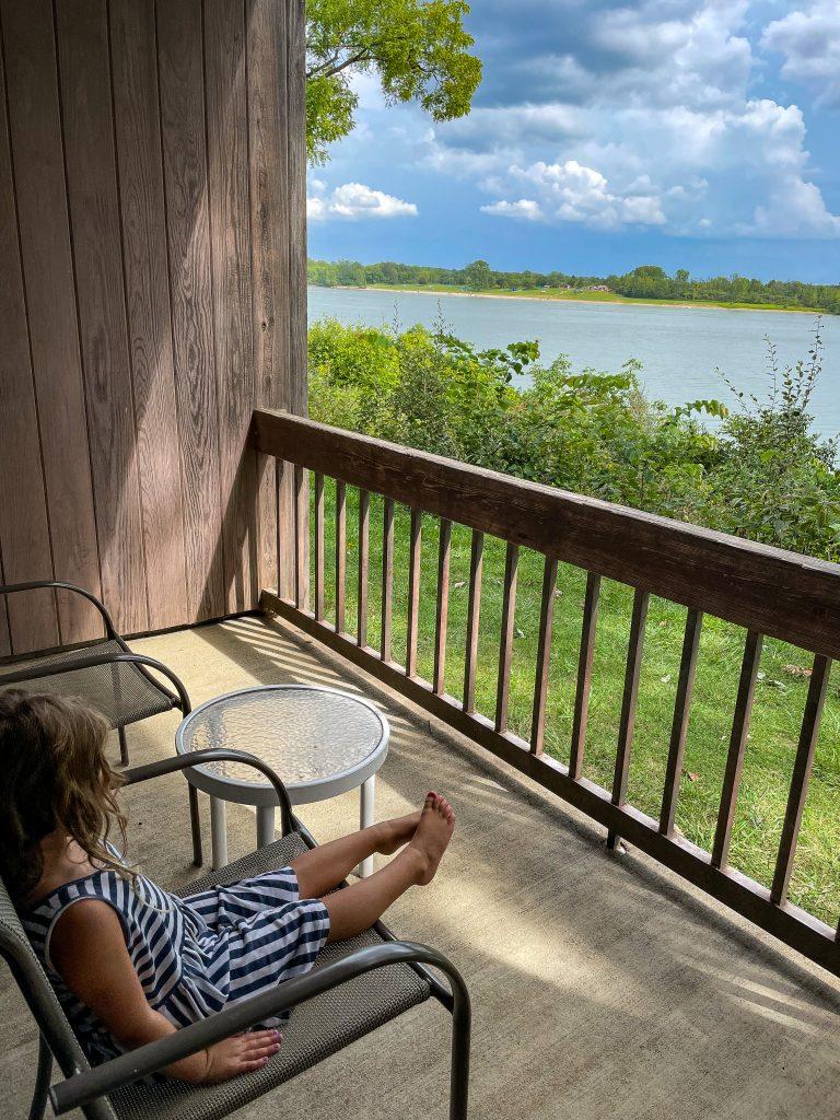 Balcony at Deer Creek Lodge with Lake View